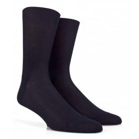 Feinripp Socken für empfindliche Beine - Blau