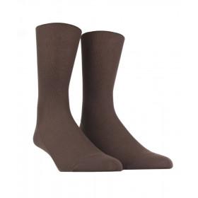 Feinripp Socken für empfindliche Beine  - Braun