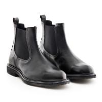 Chelsea Boots schwarz mit Kreppsohle