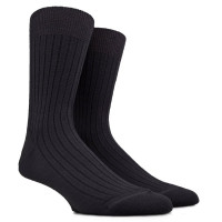100% Merino Socken Schwarz
